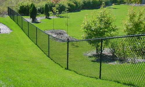 Black Vinyl Chain Link Fence Installer Rock Hill SC, Lancaster SC, Fort Mill SC, Columbia SC, Gastonia NC