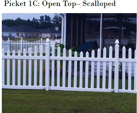 Scalloped Vinyl Picket Fence Mathews NC