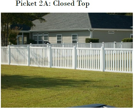 Vinyl Picket Fence Top Rail Mathews NC