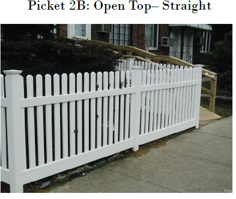 Vinyl Picket Fence Open Top Charlotte NC