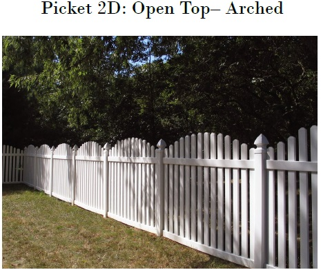 Arched Vinyl Picket Fence Mathews NC
