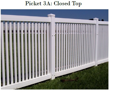 Vinyl Picket Fence Closed Top Mathews NC