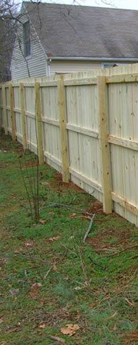 Wood Privacy Fence Installation Company Pineville North Carolina